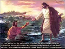 jesus walking with peter